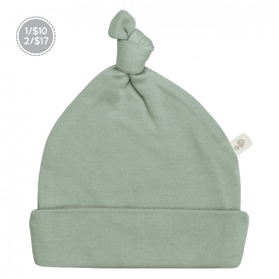 Bonnet nouveau-né 0-3 mois vert mousse Perlimpinpin