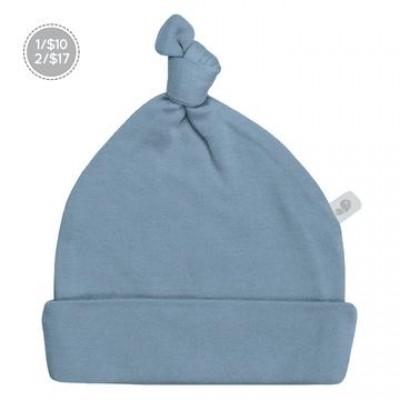 Bonnet nouveau-né 0-3 mois bleu Perlimpinpin