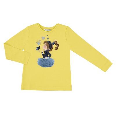Chandail jaune fillette Mayoral