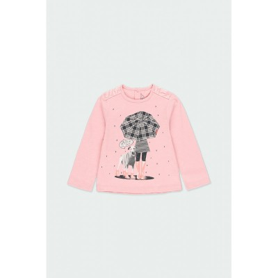 Chandail rose chien parapluie Boboli