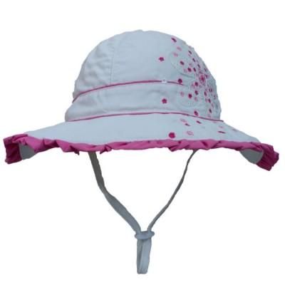 Chapeau blanc /fuschia Calikids