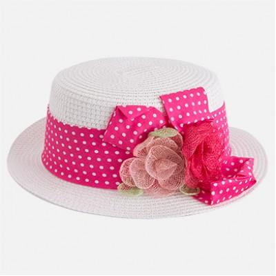 Chapeau blanc/fuschia Mayoral
