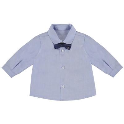 Chemise bleue avec noeud papillon Mayoral
