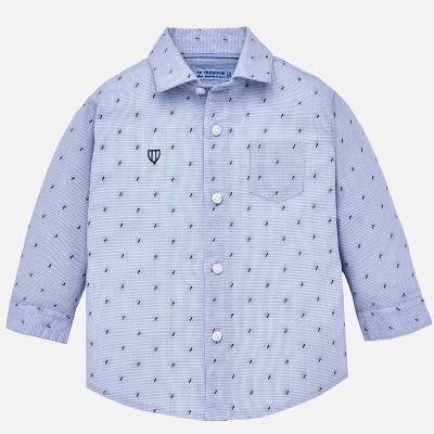 Chemise bleu ciel avec motif Mayoral