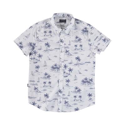 Chemise imprimée palmier bleu Mayoral