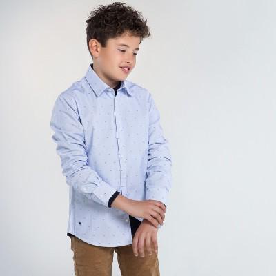 Chemise bleu pâle à motifs Mayoral