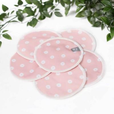 Compresse allaitement lavable (paquet) rose La Petite Ourse
