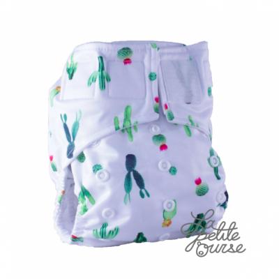Couche lavable à poche velcro Cactus La Petite Ourse  (10-35 lbs)