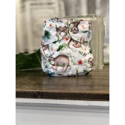Couche lavable à poche 2.0  Folivora Mme&Co  (8-35 lbs)