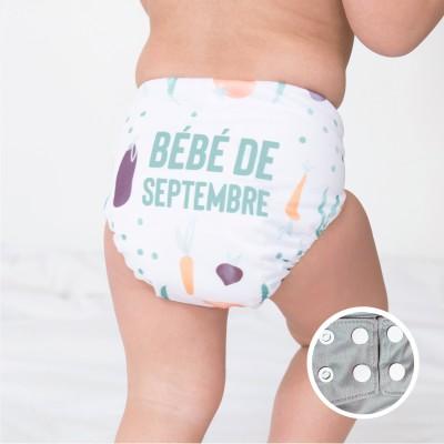 Couche lavable à poche  La Petite Ourse  Septembre (10-35 lbs)