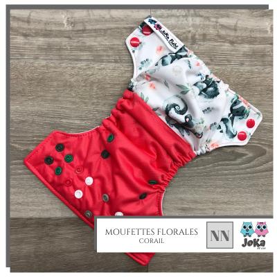 Couche lavable et de piscine à poche Moufette Florale Joka 2.0