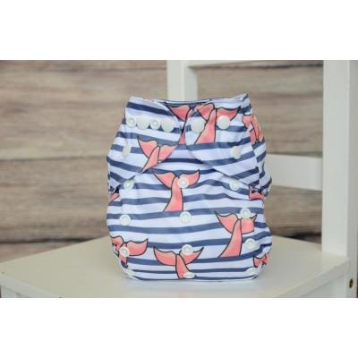 Couche lavable à poche 2.0 Divine Marine Mme&Co (8-38 lbs)