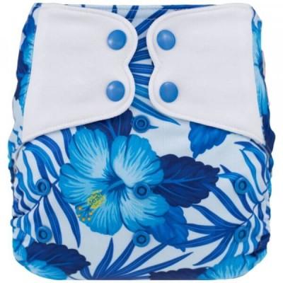 Couche lavable à poche ELF Hiibiscus bleu (8-38 lbs)