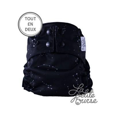 Couche lavable tout en 2 La Petite Ourse Constellation (8-35 lbs)