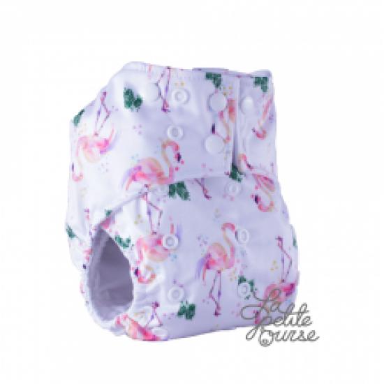 Couche lavable à poche La Petite Ourse Flamant  (10-35 lbs)