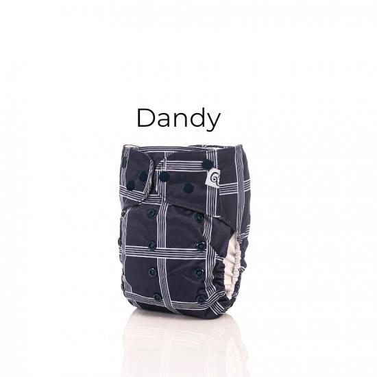 Couche lavable à poche 2.0 Dandy Mme&Co (10-35 lbs)