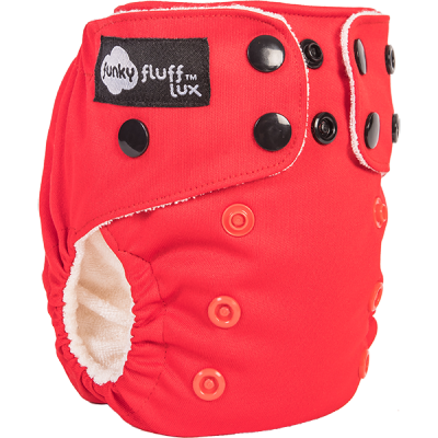 Couche lavable nouveau né Funky Fluff Rouge (4-14 lbs+)