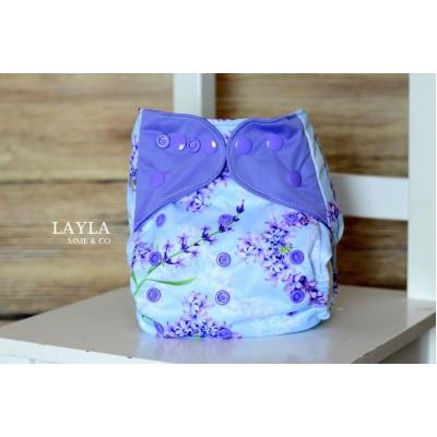 Couche lavable à poche 2.0 Layla Mme&Co  (8-35 lbs)
