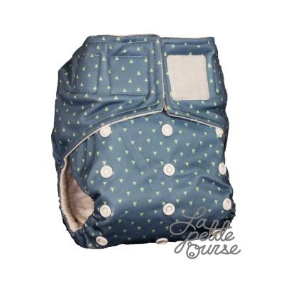 Couche lavable à poche velcro Triangle La Petite Ourse (10-35 lbs)