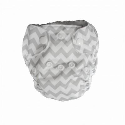 Couche lavable nouveau né Chevron La Petite Ourse (5-10 lbs)