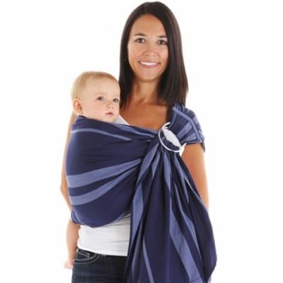 Écharpe de portage ajustable (ring-sling) Azur