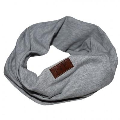 Foulard anneau gris uni LP