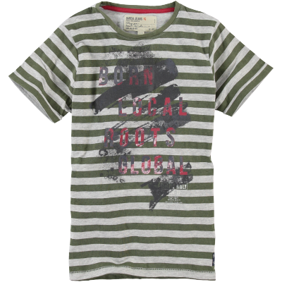 T-shirt rayé kaki Garcia