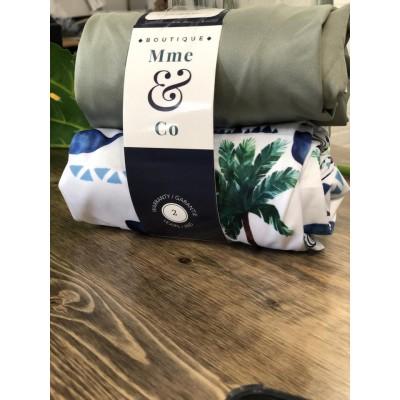 Grand sac (2) à couches souillées Odyssé et gris Mme&Co