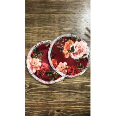 Compresse d'allaitement lavable motif fleurs Victoria Mme&Co