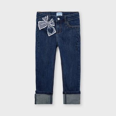 Jeans foncé avec noeud Mayoral