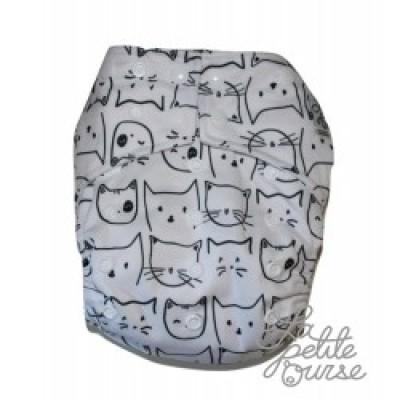 Couche lavable à poche La Petite Ourse Chat (10-35 lbs)