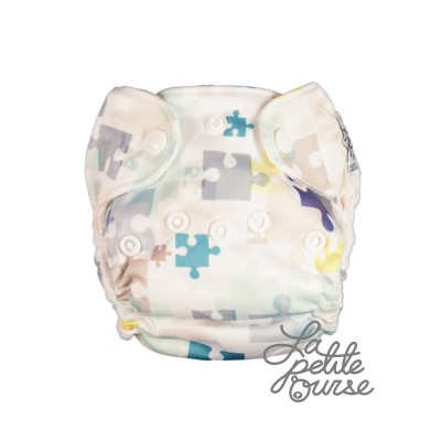 Couche lavable nouveau né Casse-Tête La Petite Ourse (5-10 lbs)