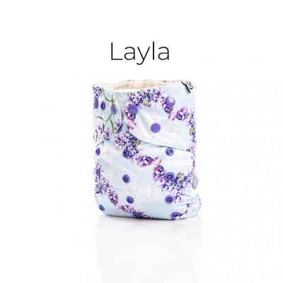 Couche lavable à poche 2.0 Layla Mme&Co  (10-35 lbs)