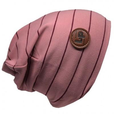 Tuque jersey rayé rose LP