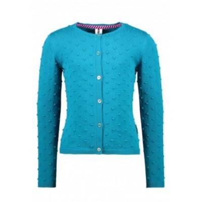 Cardigan tricot bleu turquoise B.Nosy