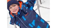 Habit neige carreaux bleu Gusti (2-3x)