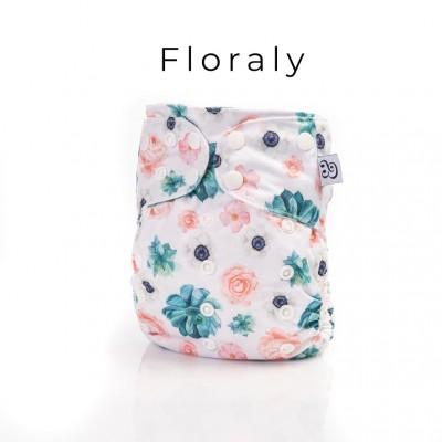 Couche lavable tout en un 2.0 Floraly Mme&Co (10-35 lbs)
