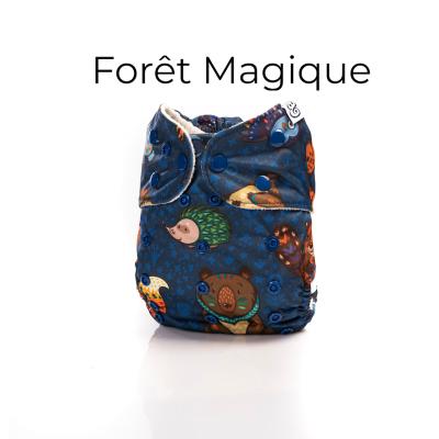 Couche lavable à poche 2.0 Forêt Magique Mme&Co (10-38 lbs)