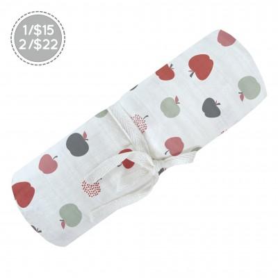 Doudou en mousseline coton Pommes  Perlimpinpin