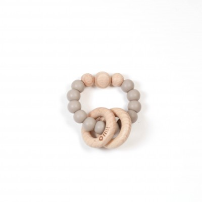 Hochet clic clac taupe Bulle