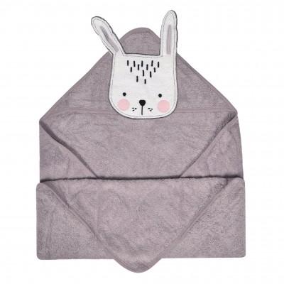 Serviette de bain pour bébé modèle lapin Perlimpinpin