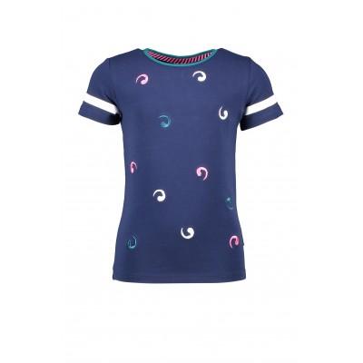 T-shirt marine à motif B.Nosy