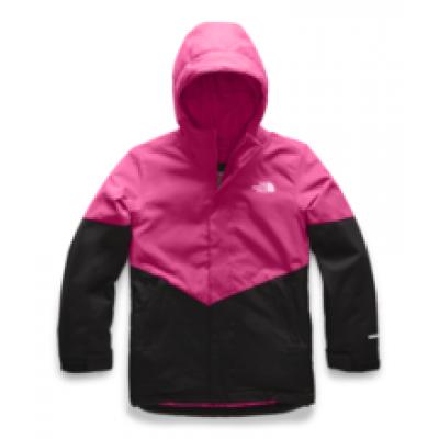 Manteau hiver fuschia/noir jeune fille North Face