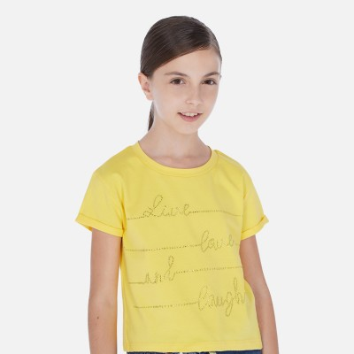 T-shirt jaune Mayoral