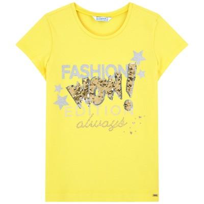T-shirt jaune brillant Mayoral