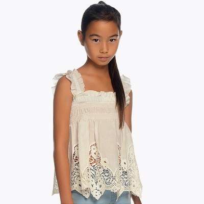 Camisole avec broderie blanche Mayoral