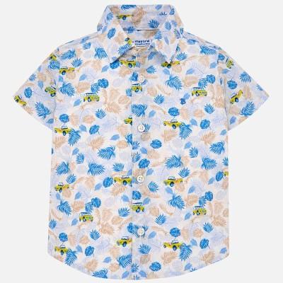 Chemise à motif d'auto et de palmier Mayoral