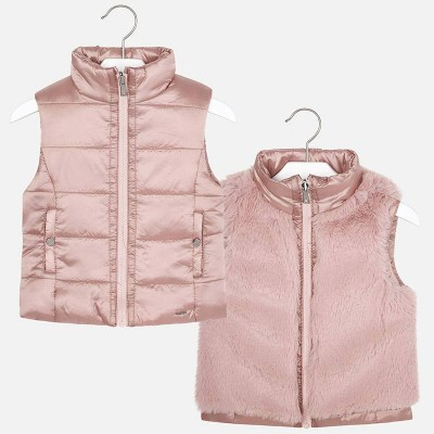 Gilet reversible rose pâle Mayoral