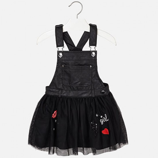 Robe jupe salopette noire Mayoral