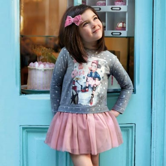 Robe combinée tulle Mayoral